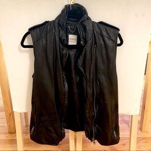 LF Carmar Leather Moto Vest